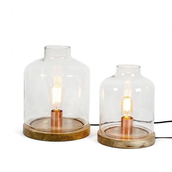 Lampe Empoli Holz-Glas