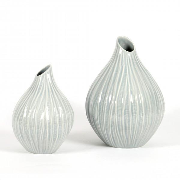 Keramik Deko-Vase, London, bauchig m.Struktur