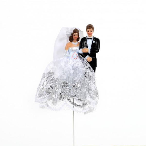 Brautpaar am Draht 7,5cm
