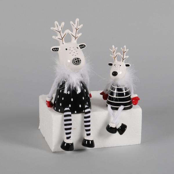 Keramik-Hirsch Liam mit Baumelbeinen