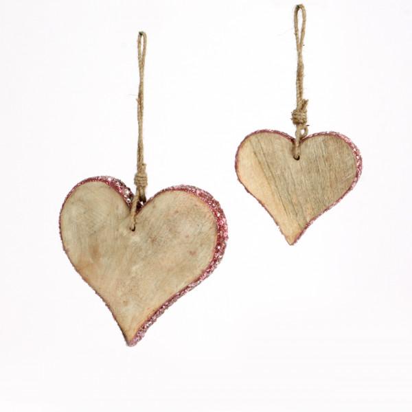 Herz z.hängen Chichi Holz mit Glasperlen