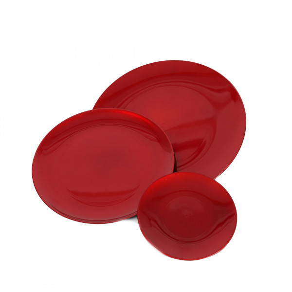 Kunststoff-Teller rund, gewölbt