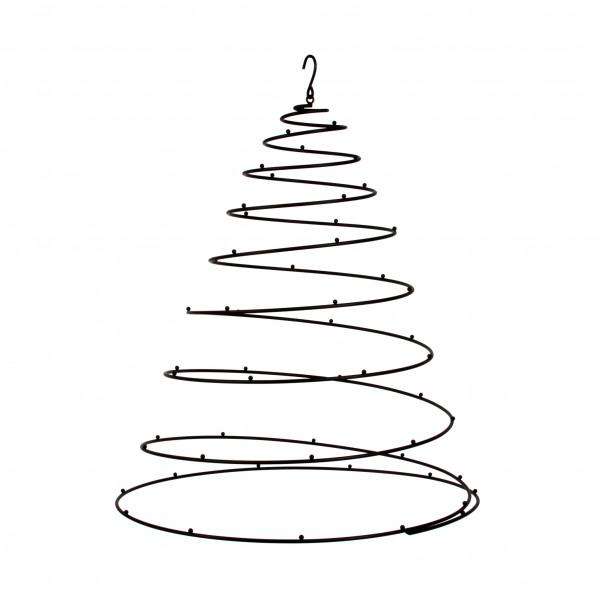 Display Spirale Metall,schwarz , 50x62 cm