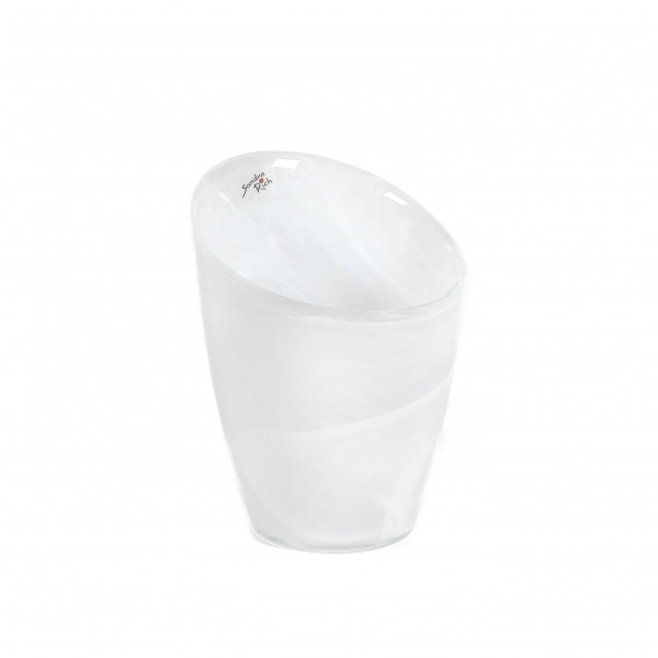 ALABASTER Vase H 18 cm D 15 cm creme