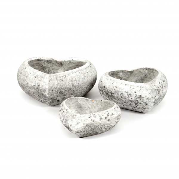 Keramik Pflanz-Herz, Rustiko liegend