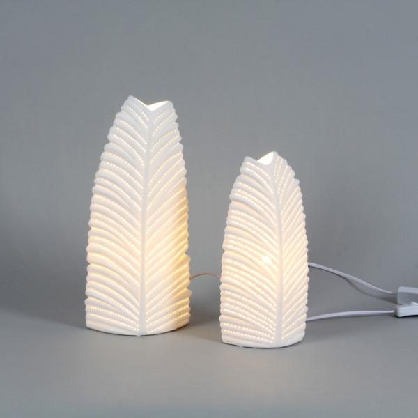 Keramik- leaf-shape Lampe