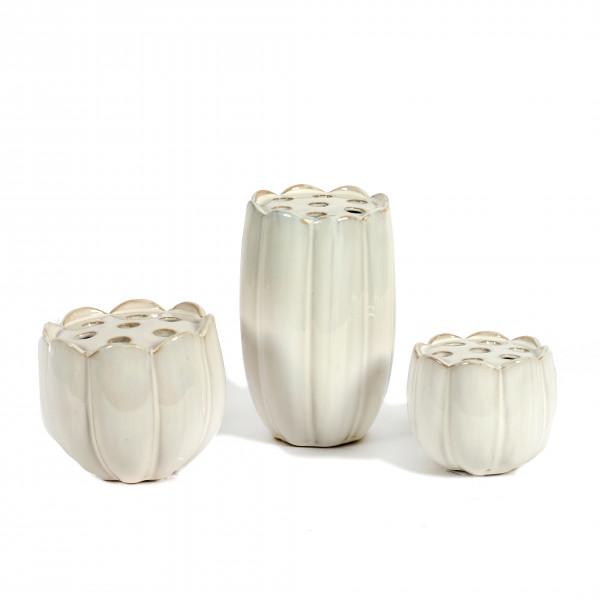 Keramik Lotus-Vase