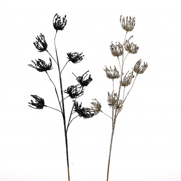 Alliumzweig x 9, beglittert, 75 cm