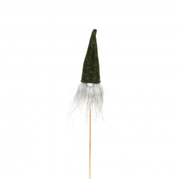 Blumenstecker Wichtel Kunststoff 4x15x25 cm, 2fb sortiert grün
