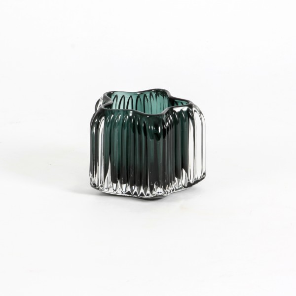 Teelichtglas Stars 10,3x10,3x8 cm smaragd