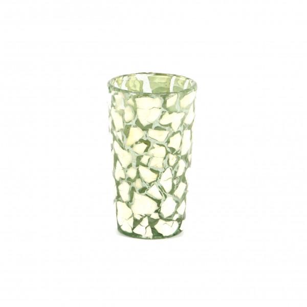 Teelichtglas Coquille 8x8x13 cm