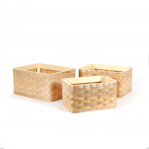 Box, Rattan natur,S/3-40x30x19 /36x26x18/31x22x17cm