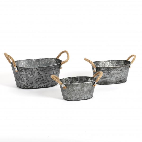 Zinkjardiniere Elis Metall, zink antik