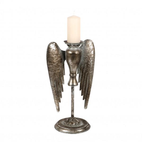 Metall Kerzenständer Pegasus mit Flügeln 23x10x40.8cm