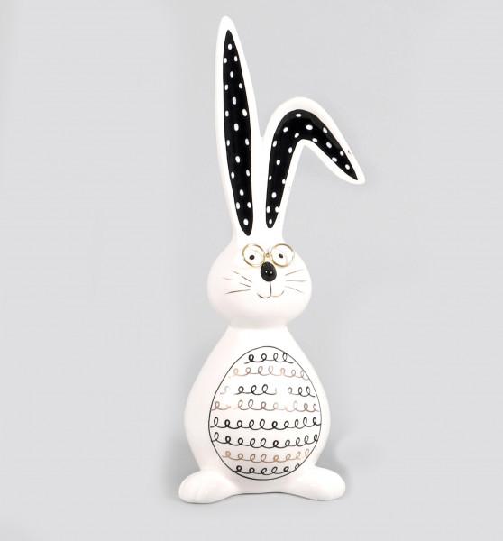Keramik-Hase Filippo stehend mit