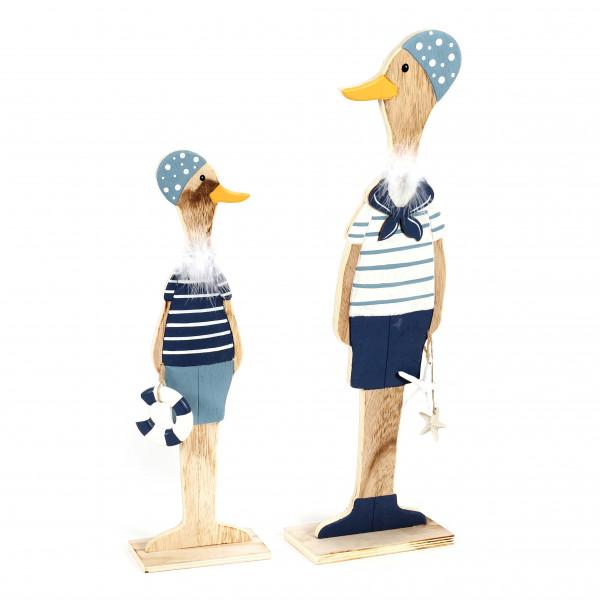 Ente, Holz, mit Badekappe