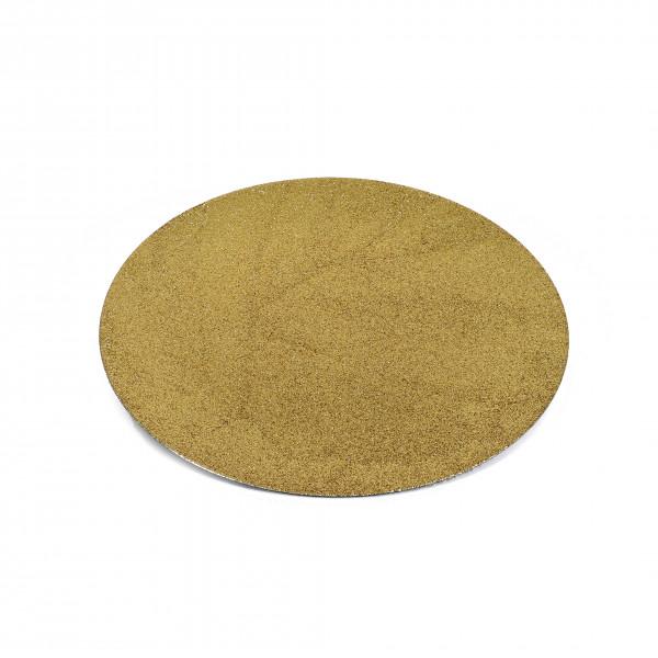 Kunststoff-Teller rund, gewölbt D.33cm gold - glitter