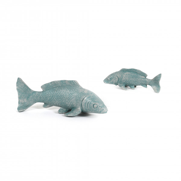 Fisch, Poly,blau grau