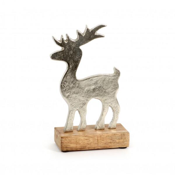 Hirsch Stare Alu-Holz,21x12 cm