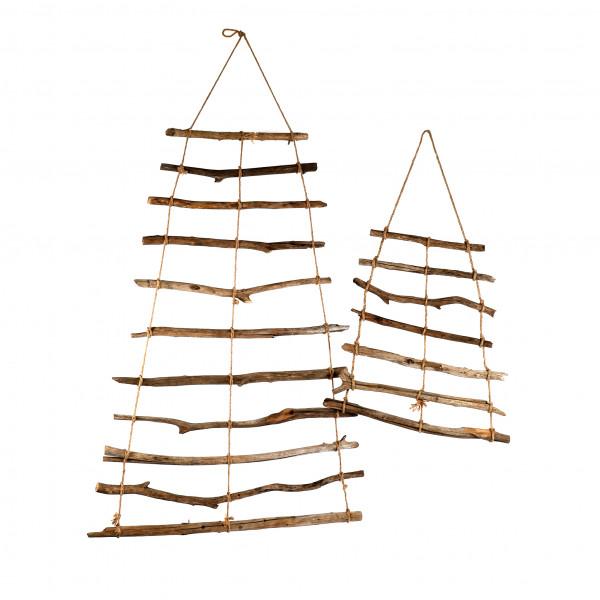 Deko Leiter Holz mit Jutekordel