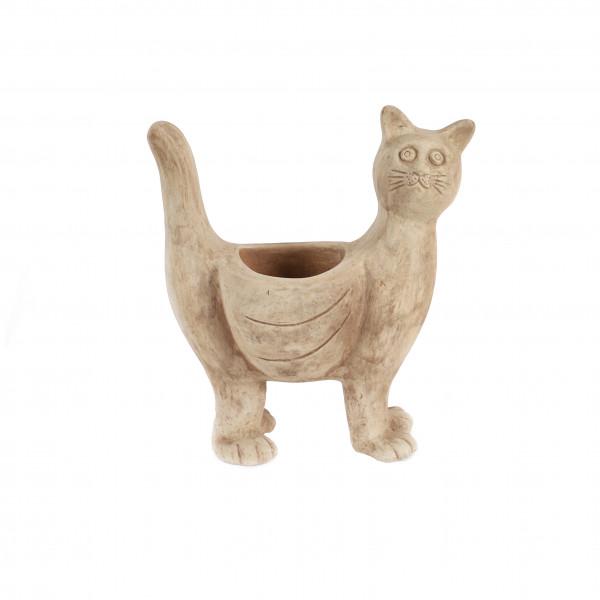 Terracotta Pflanz-Katze 34x17xh38