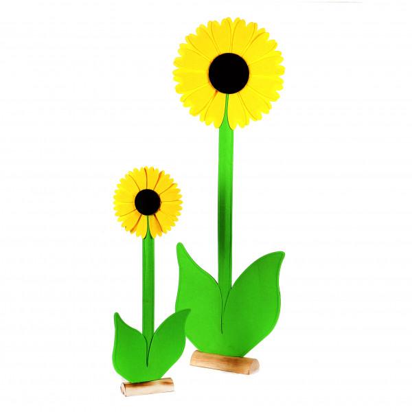 Sonnenblume auf Holzbase,Filz