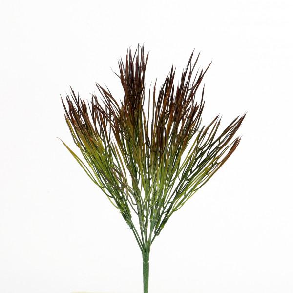 Grasbusch, 38 cm, grün-rot