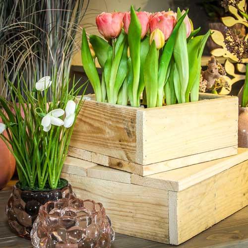 Holz Schale quadratisch