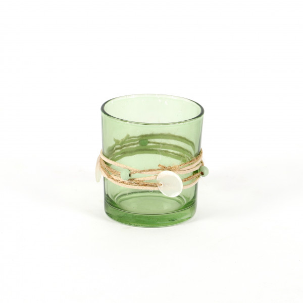 Windlicht en vogue Glas mit Kordel 7,3x8 cm 2 Modelle