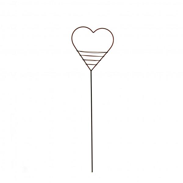 Herzstab mit Elipsen 170 cm Eisen rost