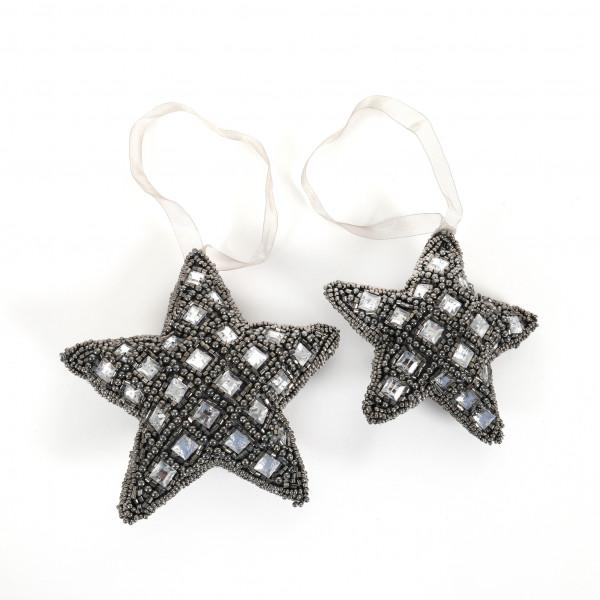 Stern,Schmuckstein mit Perlen zum hängen