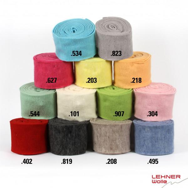 LEHNER Filz-Topfband einfarbig 15cm,Lfm.5m