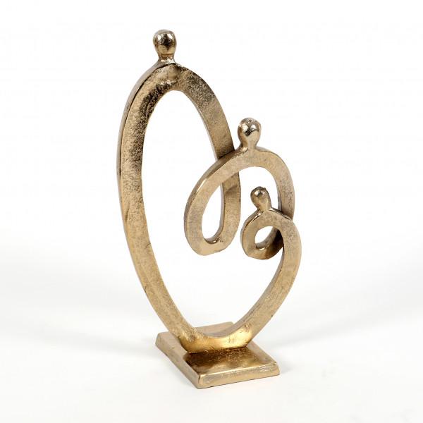 Standdeko Sanaá Aluminium, gold 36x18,5 cm