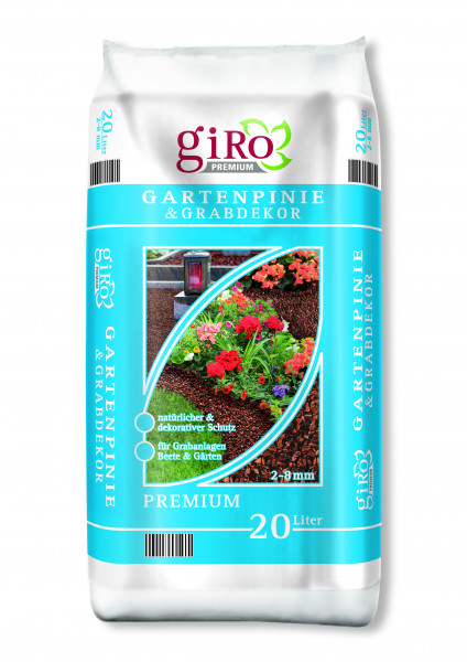 Premium Pinienrinde 20 liter 2-8 mm