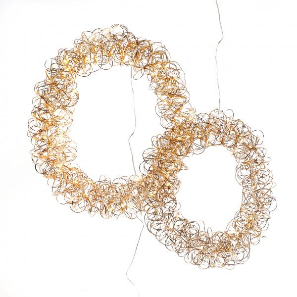Deko Kranz Curly Star Metall, rosegold