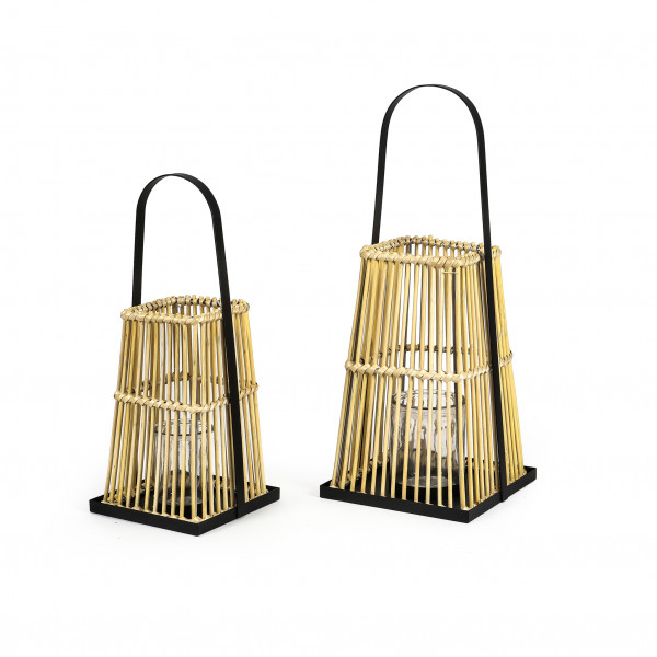 Metall-Rattan Laterne Peking