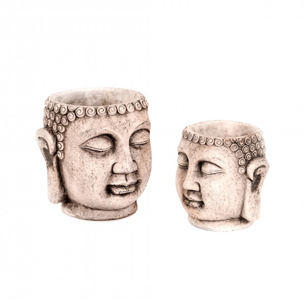 Zementtopf Buddha Bray , grau
