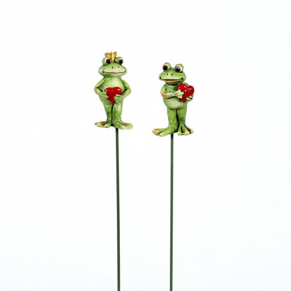 Poly Stecker, Frosch m.rotem Herz 2 Mod.sort., 2,5x2 cm
