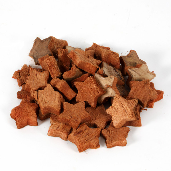 Kokosstern 3cm klein Beutel a 100 Stück natur