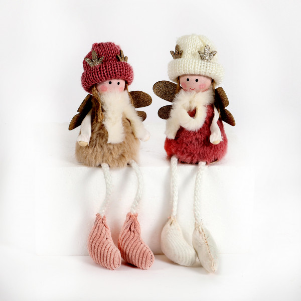 Engel Miri und Eve Textil, 8,5x6x20 cm, rosa, 2 Modelle