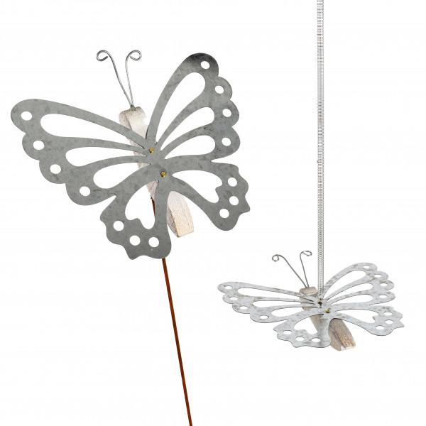 Mobile Schmetterling z.hängen,Zink-Holz 18x20 cm