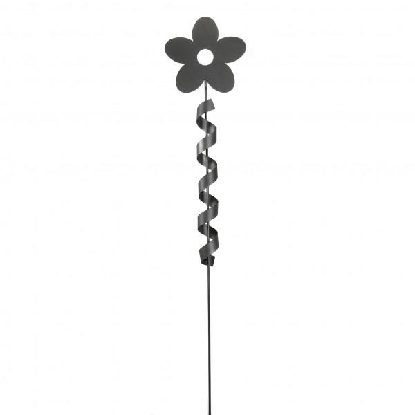 Rankstab Blume 30 cm a. Stab H 170 cm anthrazit