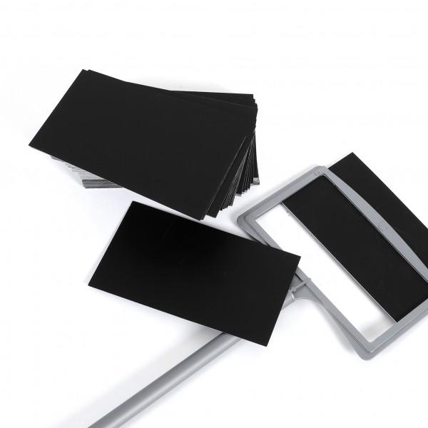 Ersatzschilder 110x65 mm schwarz