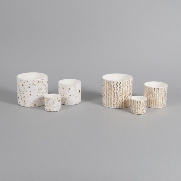 Keramik Zylindertopf Fenella