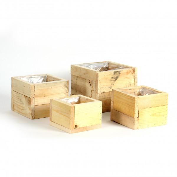 Holz Topf quadratisch
