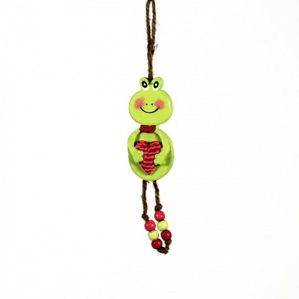 Frosch Happy z.hängen Mangohol z 17x8,5 cm