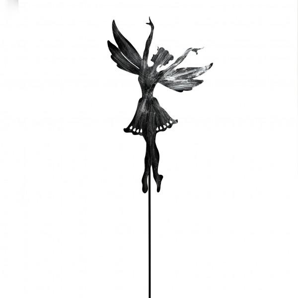Gartenstecker Elfe Metall,anthrazit 29x128 cm