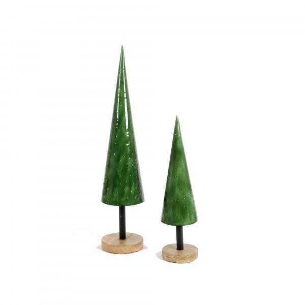 Baum, Metall, kegelförmig mit Prägung