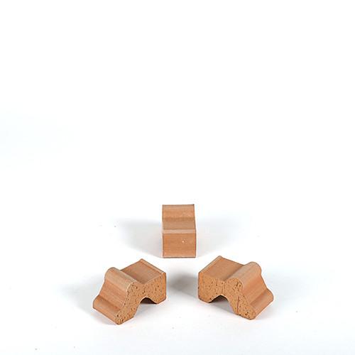 Terracotta - Füße, 4x7x4,7 cm antic