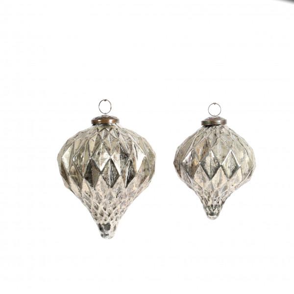 Deko-Ornament z.hängen, Glas, champagner
